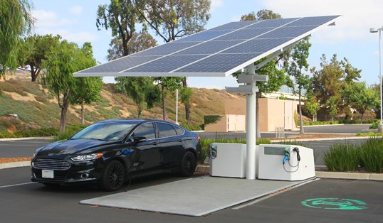 Companies Pursue Combined Solar and EV Charging Stations